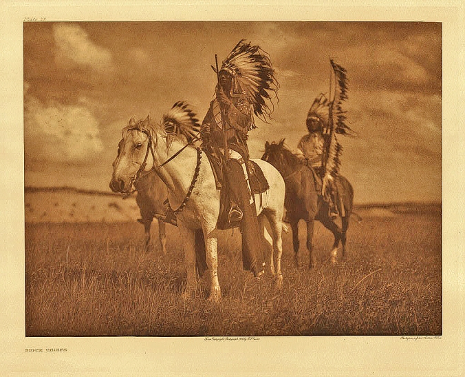 Two Sioux Cheifts by Edward Curtis