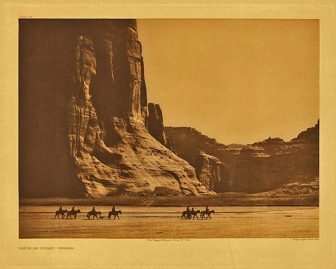 Canon de Chelly, Navajo Indians by Edward Curtis
